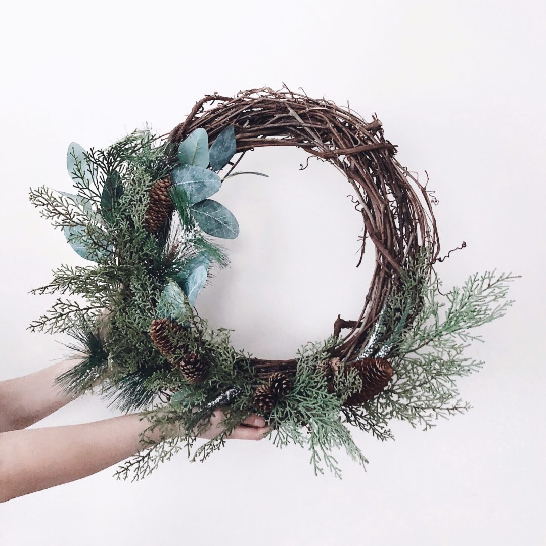 Rustic Christmas Wreath Diy.Diy Rustic Christmas Wreath Momo And Bear